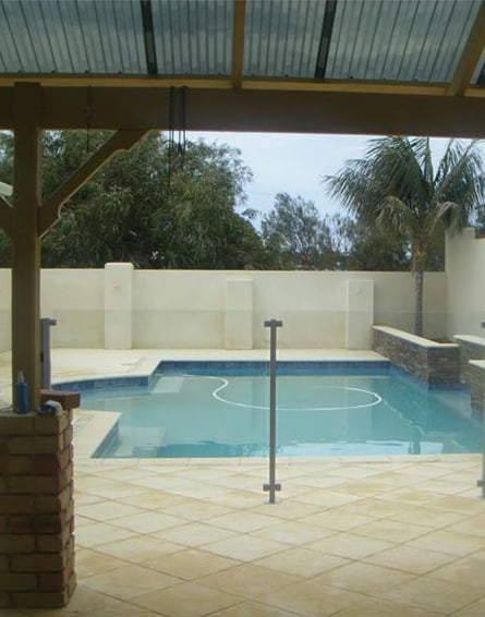 Concrete Cleaning Services Poolside