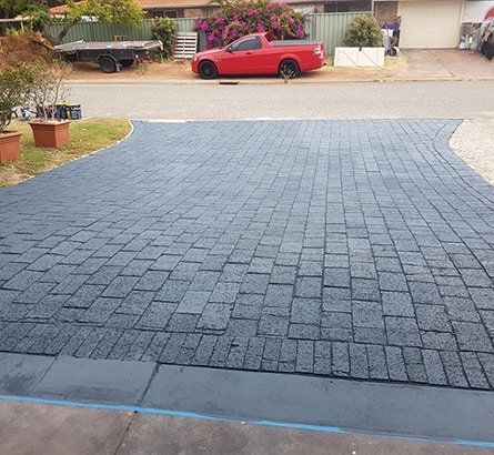Brick Pavers Pressure Washed & Colour Sealed