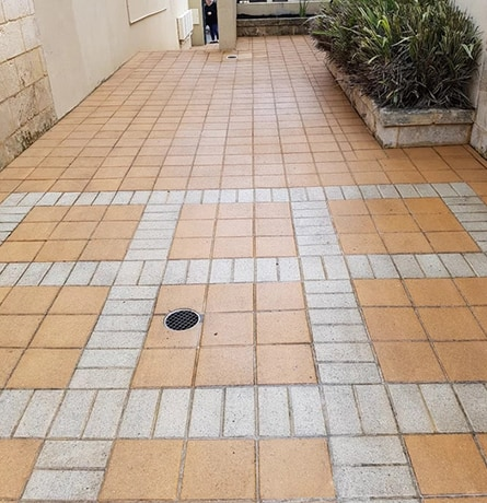 Pressure Washed & Cleaned Pavers By H20